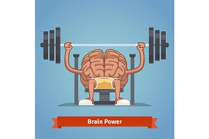 Athletic and fit brain