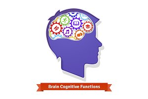 Brain functions concept