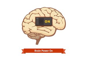 Brain power switch on