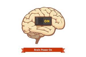 Brain power switch on