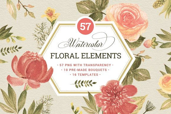 57 Floral elements & extrass