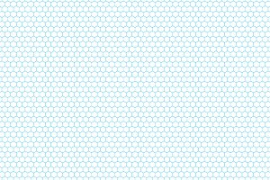 Cyan color hexagon grid