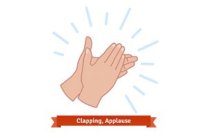 Applauding hands