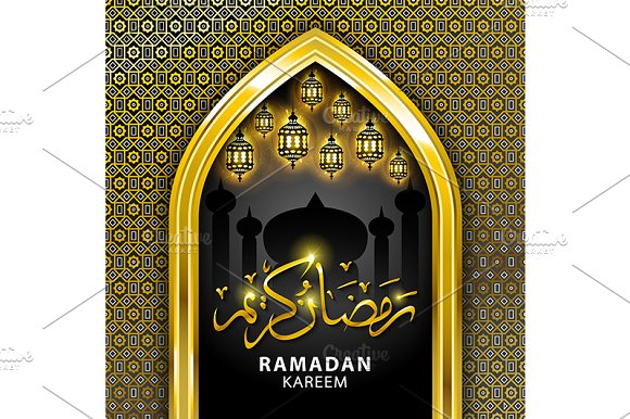 Ramadan Kareem beautiful greeting  in Graphics - product preview 2