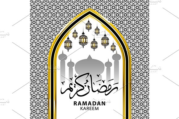 Ramadan Kareem beautiful greeting  in Graphics - product preview 3