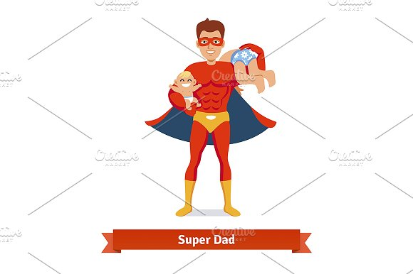 Superhero dad concept