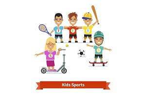 Kids doing different sports
