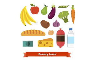 Vegetables, fruits and groceries