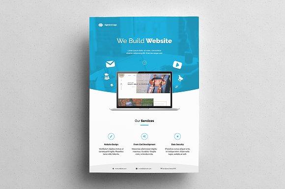 Web Designer Flyer Flyer Templates Creative Market - Web design flyer template