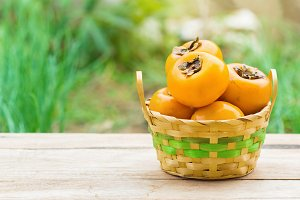 pile of persimmons