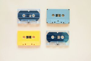 Retro cassette tapes