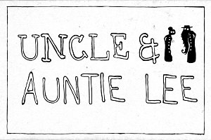 Uncle & Auntie Lee -Family (6 fonts)