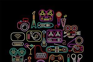 Home Electronics Neon