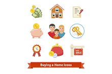 Buying a home icons