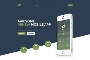 Apnew - Landing Page Template