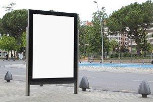 Blank billboard mock up