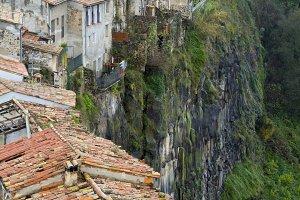 Village in a cliff
