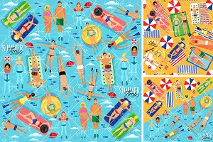 Summer Sea Vacation Illustration