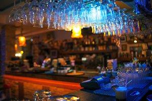 Interior of modern bar
