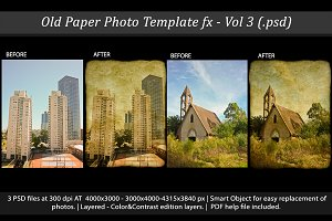 Old Paper Photo Template FX Vol 3