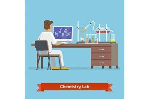 Medical chemistry lab worker