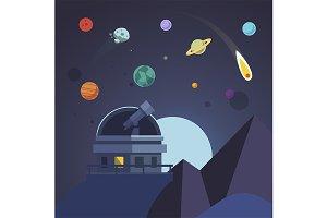 Telescope sits