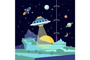 Alien space planet landscape