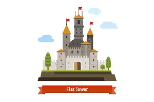 Medieval fortress with towers