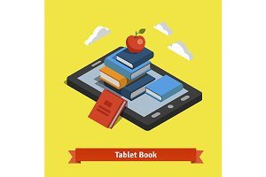 Tablet e-reader book