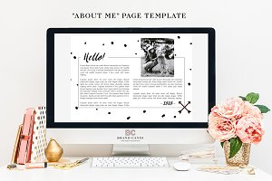 Website About Me Page Template
