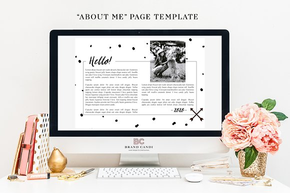 Website About Me Page Template Presentation Templates Creative