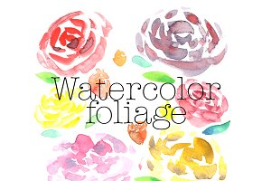 Watercolor Foliage + Pattern
