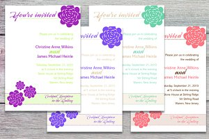 Floral wedding invitations