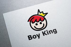 Boy King Logo Template
