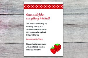 Strawberry fields invitation