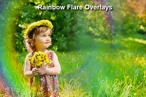Rainbow Flare Overlays