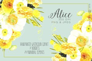 Alice Watercolor Clipart