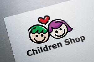 Children Shop Logo Template