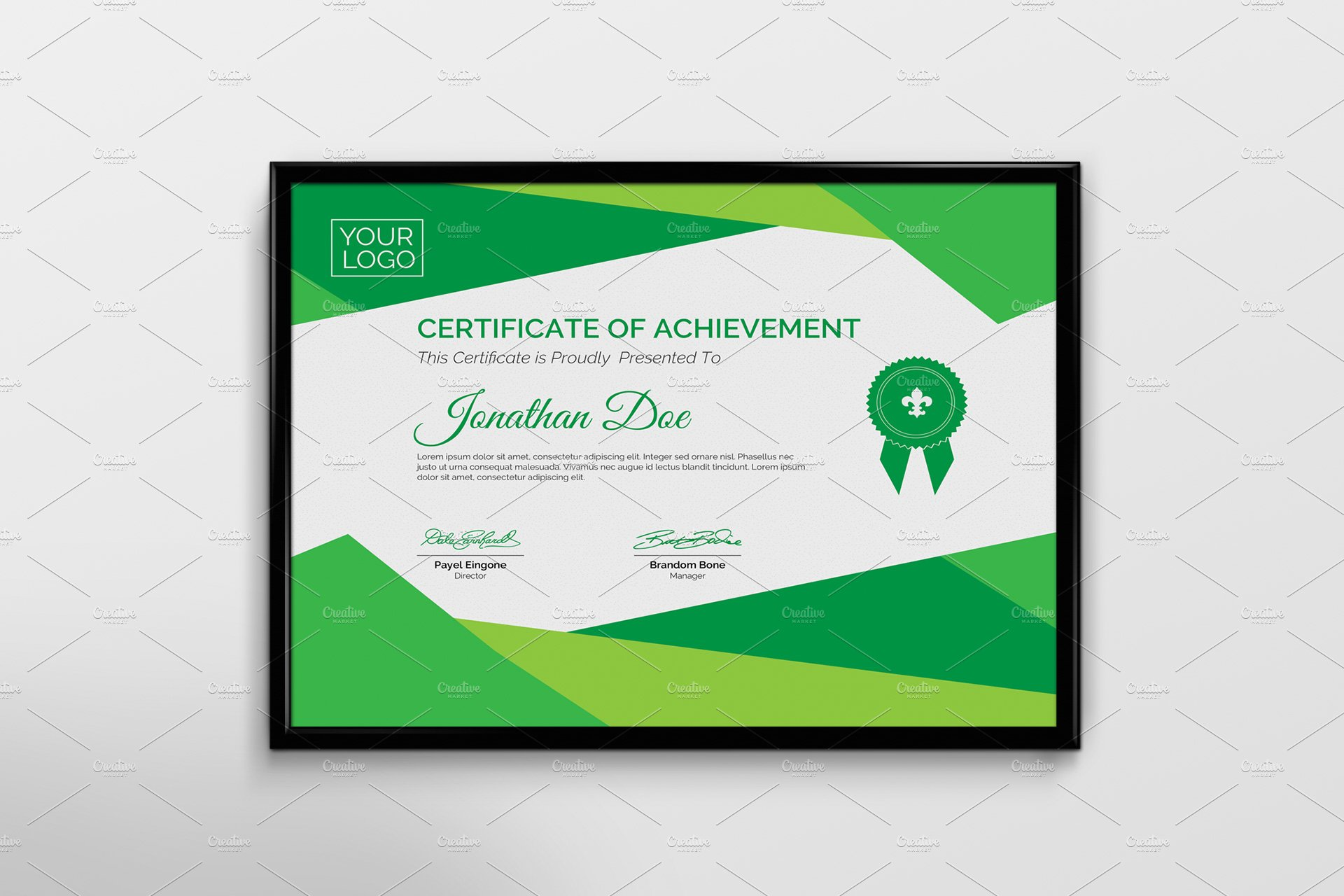 Certificate template stationery templates creative market for Css certificate template