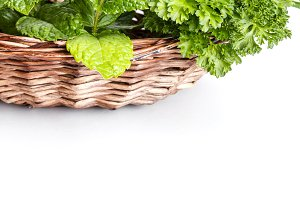 Herbs in basket