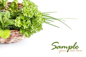 Herbs in a basket
