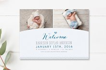 Modern Birth Announcement Template