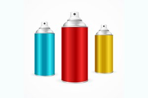 Aluminium Spray Can Template Blank.