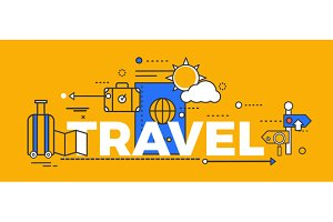 Travel Concept Design Abstract Flat