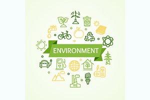 Ecology Environment Concept Card