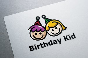 Birthday Kid Logo Template