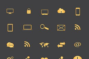 Icon set gold