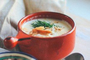 Cheese cream soup