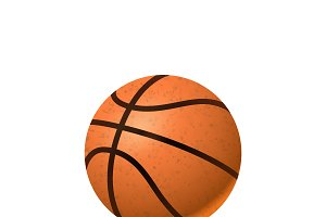 Realistic basketball ball on white