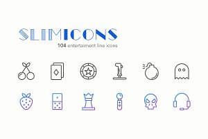 Entertaiment Line Icons - Slimicons